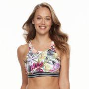 Women's N Leafy Tropical Bust Minimizer Bikini Top