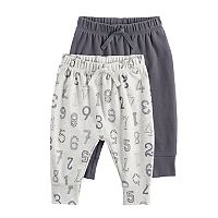Baby Girl Jumping Beans® 2-pk. Solid & Number Print Jogger Pants