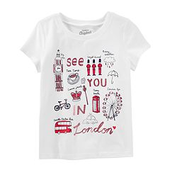 Girls 4-8 OshKosh B'gosh® 'See You In London' Tee