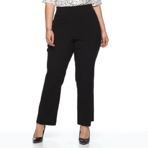Plus Size Apt. 9® Magic Waist Career Pants