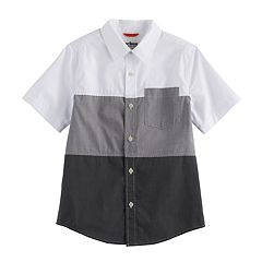 Boys 8-20 Urban Pipeline® Colorblock MaxWear Button-Down Shirt