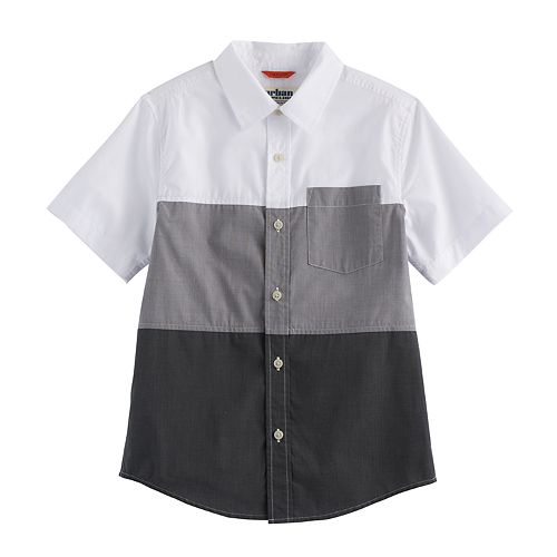 Boys 8-20 Urban Pipeline® Colorblock MaxWear Button-Down Shirt
