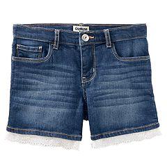 Girls 4-12 OshKosh B'gosh® Eyelet Trim Jean Shorts