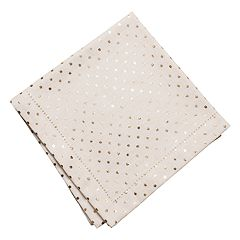 KAF HOME Atrius Metallic Mini Dot Napkin 4-pk.