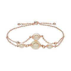 LC Lauren Conrad Simulated Pearl Pull Tie Bracelet