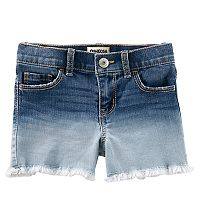 Girls 4-12 OshKosh B'gosh® Frayed Hem Dip-Dye Jean Shorts