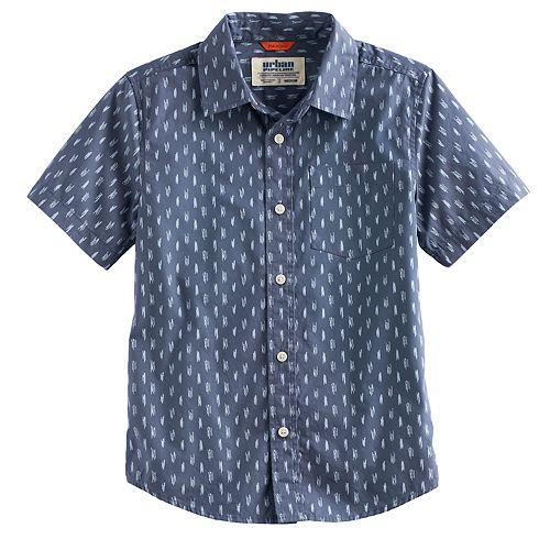 Boys 8-20 & Husky Urban Pipeline® Printed MaxWear Button-Down Shirt
