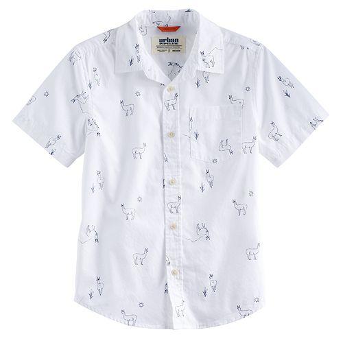 Boys 8-20 & Husky Urban Pipeline™ Printed MaxWear Button-Down Shirt