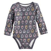 Baby Girl Jumping Beans® Slubbed Heart Print Bodysuit