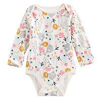 Baby Girl Jumping Beans® Slubbed Print Bodysuit