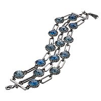 Simply Vera Vera Wang Round Stone Chain Link Multi Strand Bracelet
