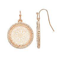 LC Lauren Conrad Filigree Disc Drop Nickel Free Earrings