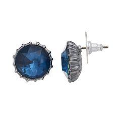 Simply Vera Vera Wang Round Stone Nickel Free Stud Earrings