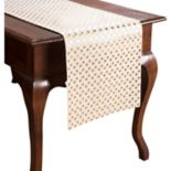 KAF HOME Draco Metallic Polka Dot Table Runner - 72""