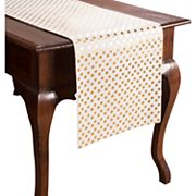 KAF HOME Draco Metallic Polka Dot Table Runner - 72'
