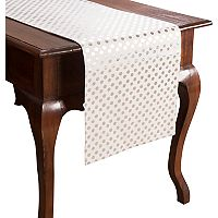 KAF HOME Draco Metallic Polka Dot Table Runner - 72