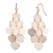 LC Lauren Conrad Filigree Dangle Nickel Free Earrings