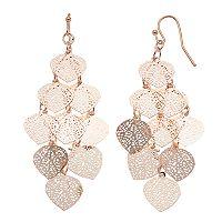 LC Lauren Conrad Filigree Dangle Nickel Free Earrings