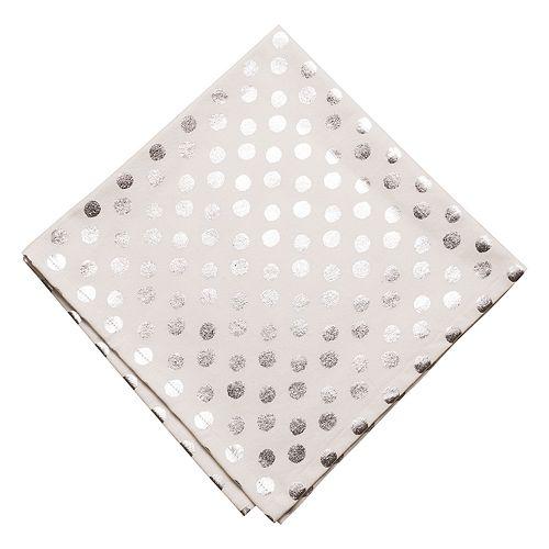 KAF HOME Draco Metallic Polka Dot Napkin 4-pk.