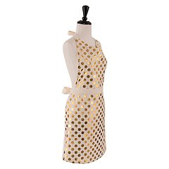 KAF HOME Metallic Polka Dot Apron