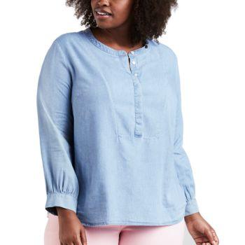 Plus Size Levi's Popover Denim Shirt