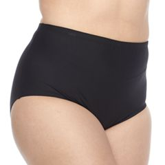 Plus Size N Solid High-Waisted Body Sculptor Brief Bottoms