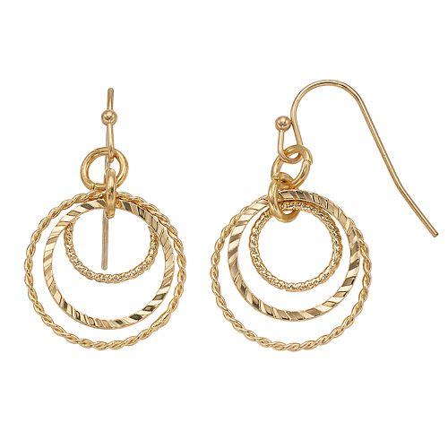 Concentric Circle Earrings: LC Lauren Conrad Concentric Circle Nickel Free Drop Earrings