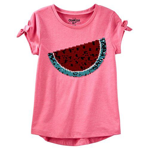 30425294 Girls 4-12 OshKosh B'gosh® Watermelon Flip Sequin Graphic Tee