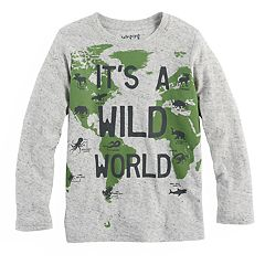 Boys 4-10 Jumping Beans® 'It's A Wild World' Continents Graphic Tee