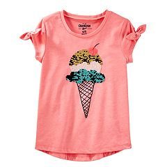 Girls 4-12 OshKosh B'gosh® Ice Cream Cone Flip Sequin Graphic Tee