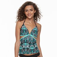 Mix and Match Tribal Strappy-Back Halterkini Top