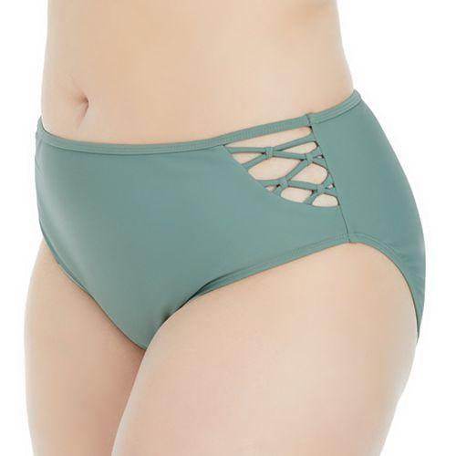 Plus Size Island Soul Curve Macramé Hipster Bikini Bottoms