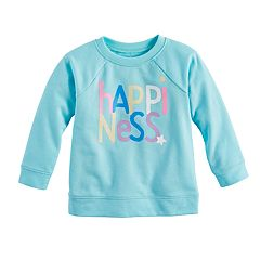 Baby Girl Jumping Beans® 'Happiness' Crew Pullover Top