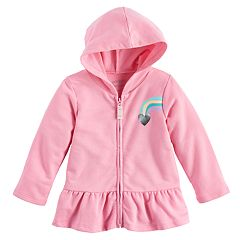 Baby Girl Jumping Beans® Peplum Zip-Up Hoodie