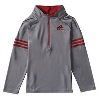 Boys 4-7x adidas Quarter Zip Mock Neck Pullover