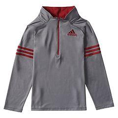 Boys 4-7x  adidas Quarter Zip Mock Neck Pullover