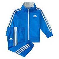 Boys 4-7x adidas Classic Tricot Mock Neck Jacket & Pants Set