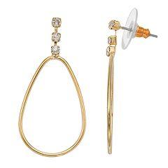 LC Lauren Conrad Teardrop Nickel Free Hoop Earrings