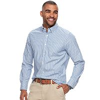Men's SONOMA Goods for Life™ Flexwear Modern-Fit Stretch Poplin Button-Down Shirt