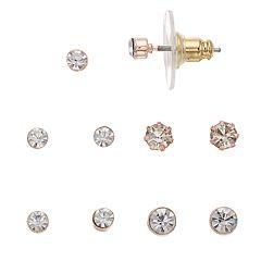 LC Lauren Conrad Simulated Crystal Nickel Free Stud Earring Set