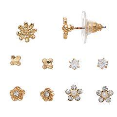 LC Lauren Conrad Flower Nickel Free Stud Earring Set
