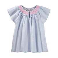 Girls 4-12 OshKosh B'gosh® Smocked Striped Top