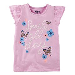 Girls 4-12 OshKosh B'gosh® 'Smile All Day' Butterfly & Flower Graphic Tee