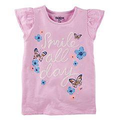 Girls 4-12 OshKosh B'gosh® 'Smile All Day' Butterfly & Flower Graphic Tee