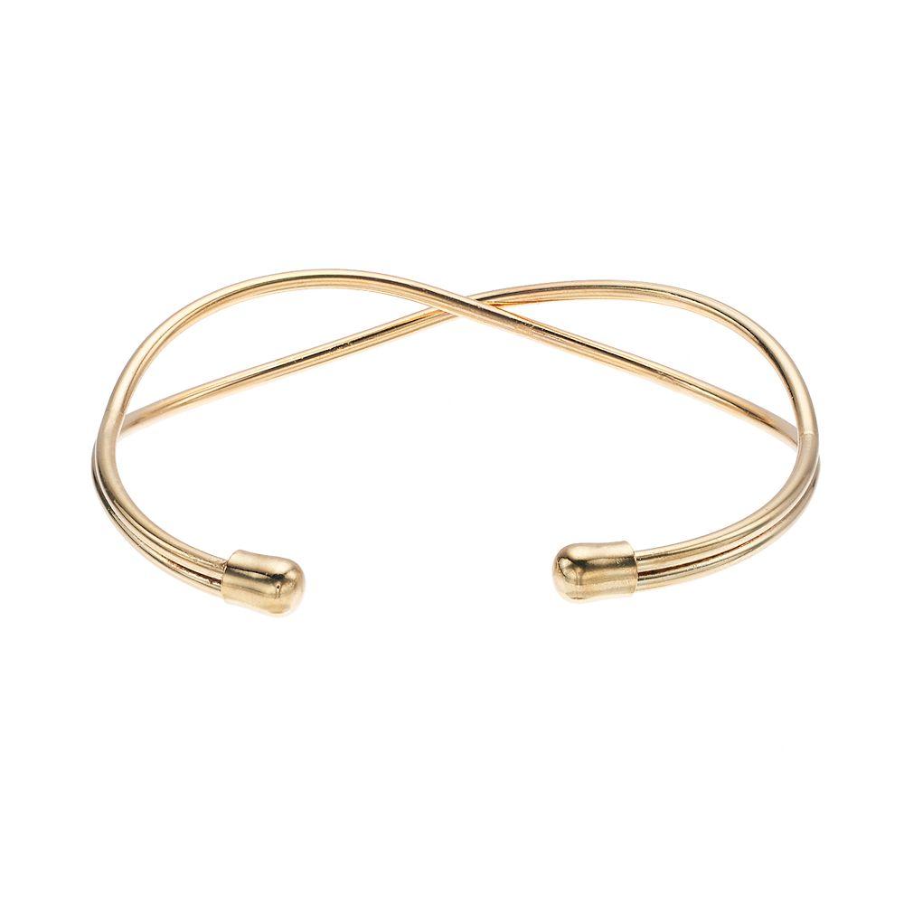 LC Lauren Conrad Gold X Cuff Bracelet