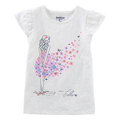 Girls 4-12 OshKosh B'gosh® 'Hello' Floral Dress Graphic Tee