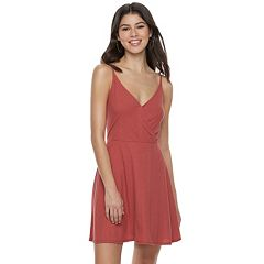 Juniors' Love, Fire Ribbed Surplice Dress