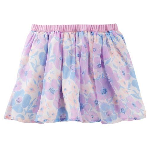 Girls 4-12 OshKosh B'gosh® Floral Print Chiffon Skirt