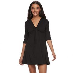 Juniors' About A Girl Knot-Front Swing Dress
