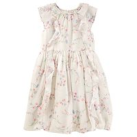 Girls 4-12 OshKosh B'gosh® Floral Waterfall Ruffle Chiffon Dress